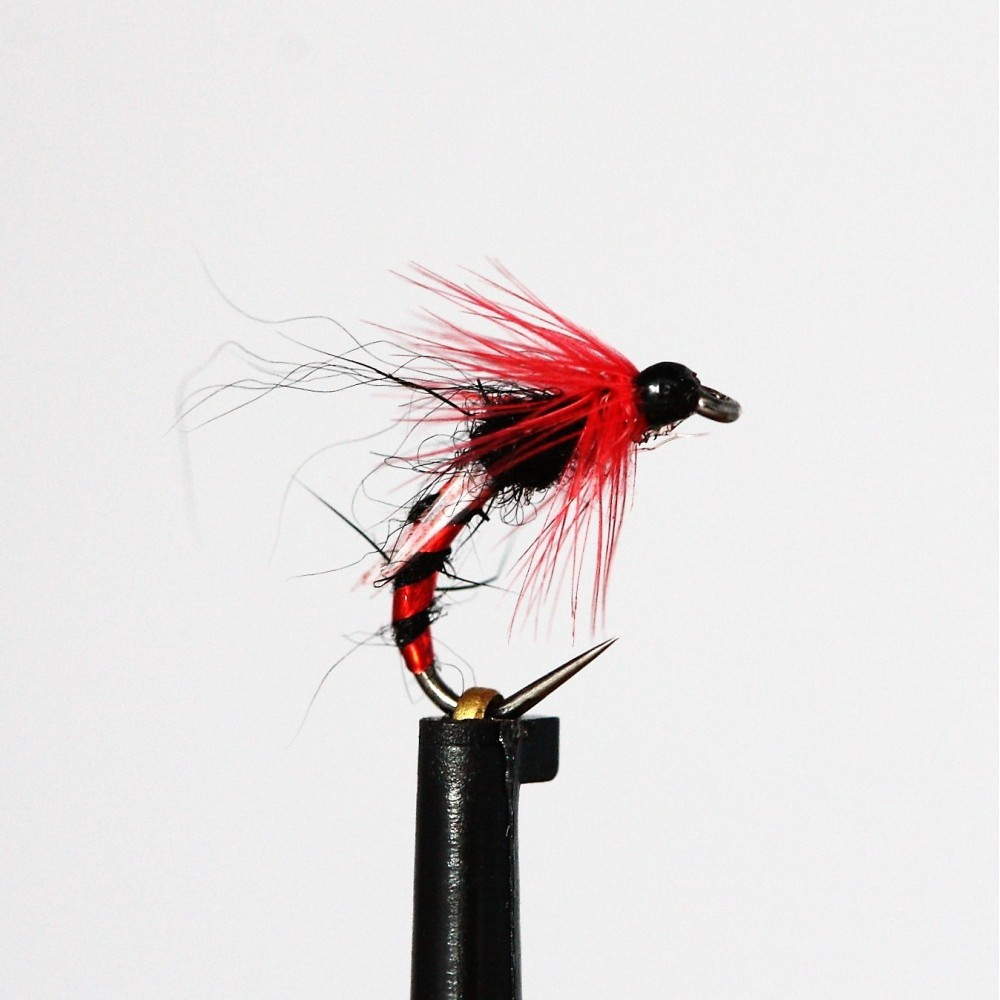Black and Red Emerger Buzzer Barbless