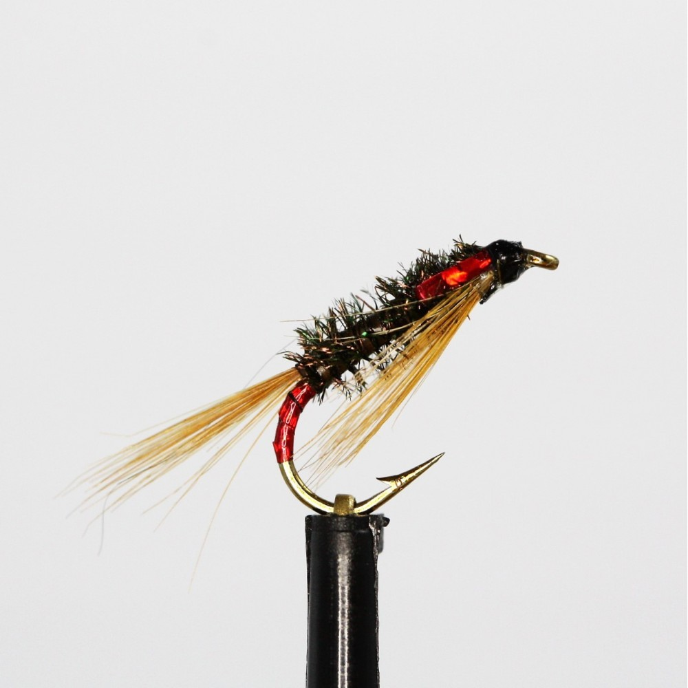 Set of 3 Fly Fishing Flies Fry Red Holographic  Cormorant Size 14
