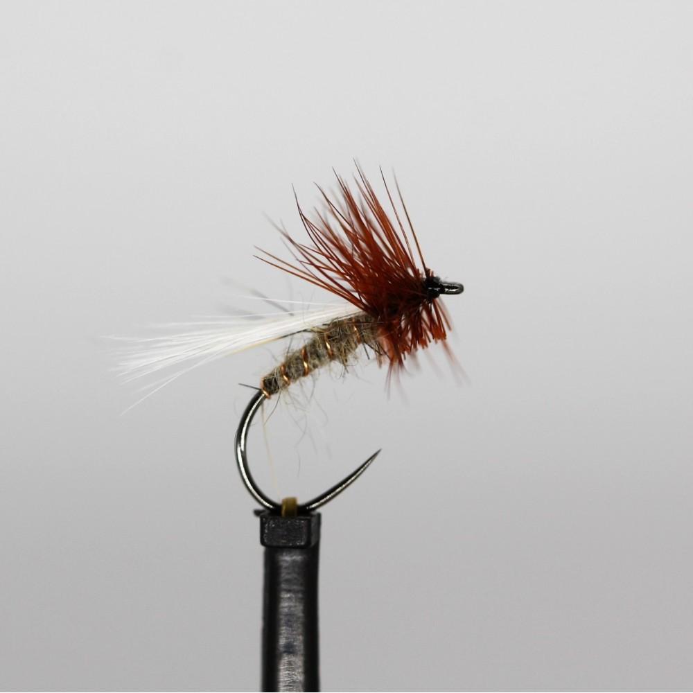 6 x COCH Y BONDDU Dry Trout /& Grayling Fly Fishing Flies Sizes 12 14 BARBLESS
