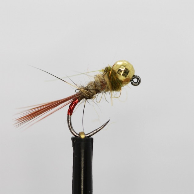 3 Tungsten Beaded Yellow Flash Black Hares Ear Jig Hooked Nymphs