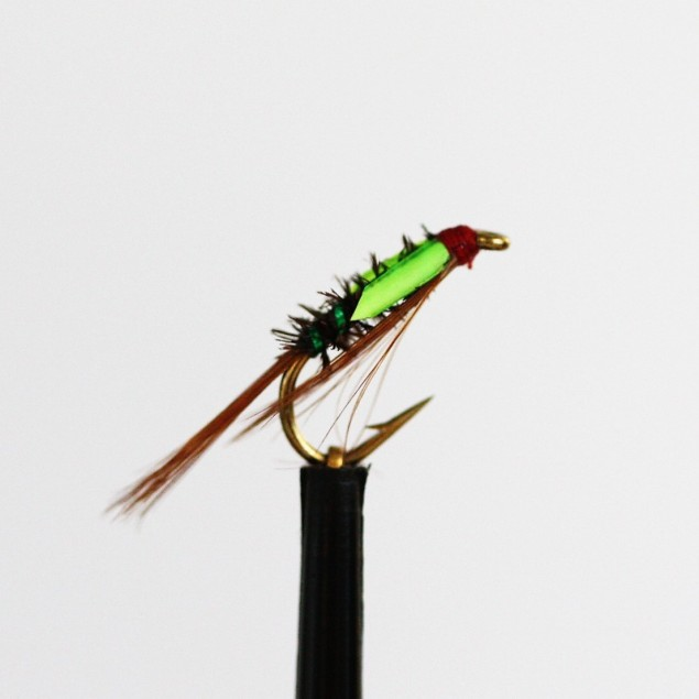Fly Fishing Flies Green Hot Collar Suspender Buzzers Size 10 Set of 3