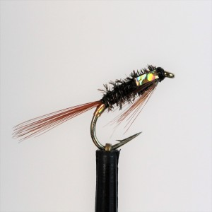 Set of 3 J//C Black Pearl Diawl Bach size 10 Fly Fishing Flies