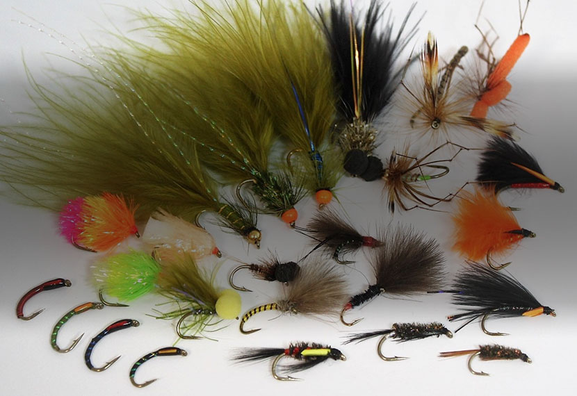 Uk Tied Trout Flies Snake Fly UV Green /& Black Nomad x 3 size 8 Trailing hook